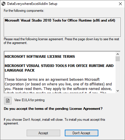 Installing the Excel Add-In 3